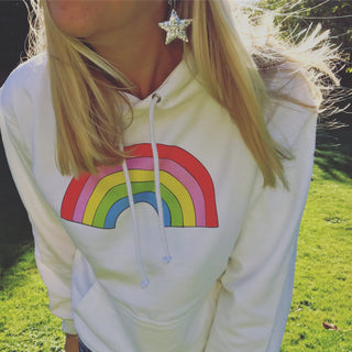 White rainbow hoody 🌈