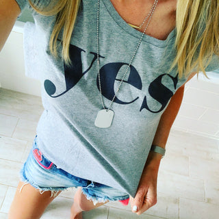 *NEW* YES grey tee