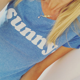 Denim blue SUNNY tee *more back in stock soon!*