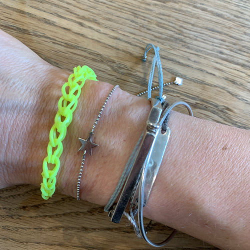 Neon yellow chain bracelet