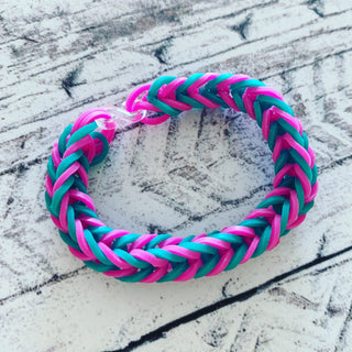 Funky neon loom band bracelets *made by kids to raise money for a Covid vaccine*
