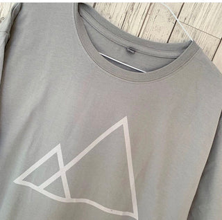 Triangles Grey Tee