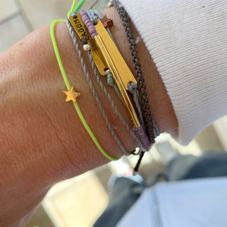 Neon yellow star bracelet