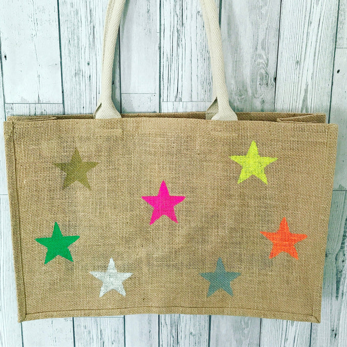 Multicoloured little neon stars bag *currently out of stock*