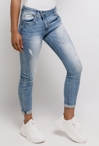 NEW! Ibiza jean joggers with asymmetric zip