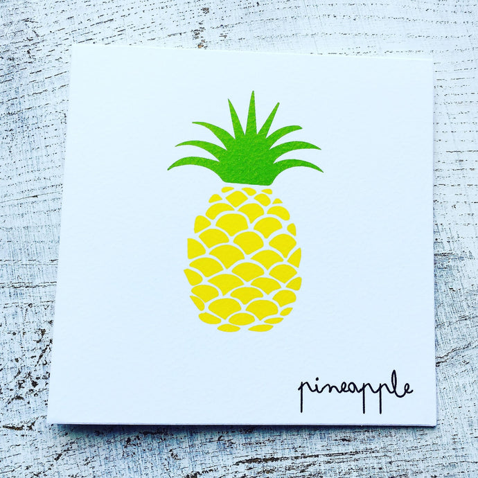 Yellow pineapple card