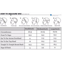 wig measurement chart, how to measure your head, custom wig, wig guide, lace wigs, hand stithed wigs