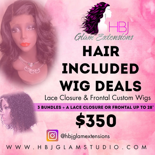 Wig It Deal: Hair and closure or frontal included