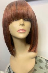 bob wig, colored wig, cinnamon hair color, auburn wig, tallahassee wig store, tallahassee beauty supply, wig head,