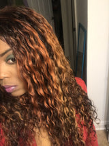 hair colorist, ombre color, tallahassee hair salon, two toned color in curly hair, curly hair, cur