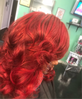 red hair, mermaid colors, color and curls, bundles, colored bundles,tallahassee bundles, hair colorist, full color
