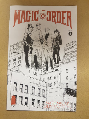 The Magic Order #1 Olivier Coipel Black And White Variant Cover
