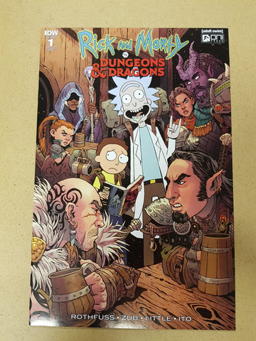 Rick And Morty VS Dungeons And Dragons #1 1:25 Variant Cover