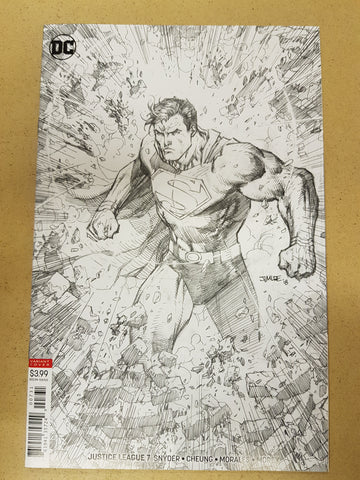 Justice League #7 1:100 Jim Lee Sketch Variant Cover