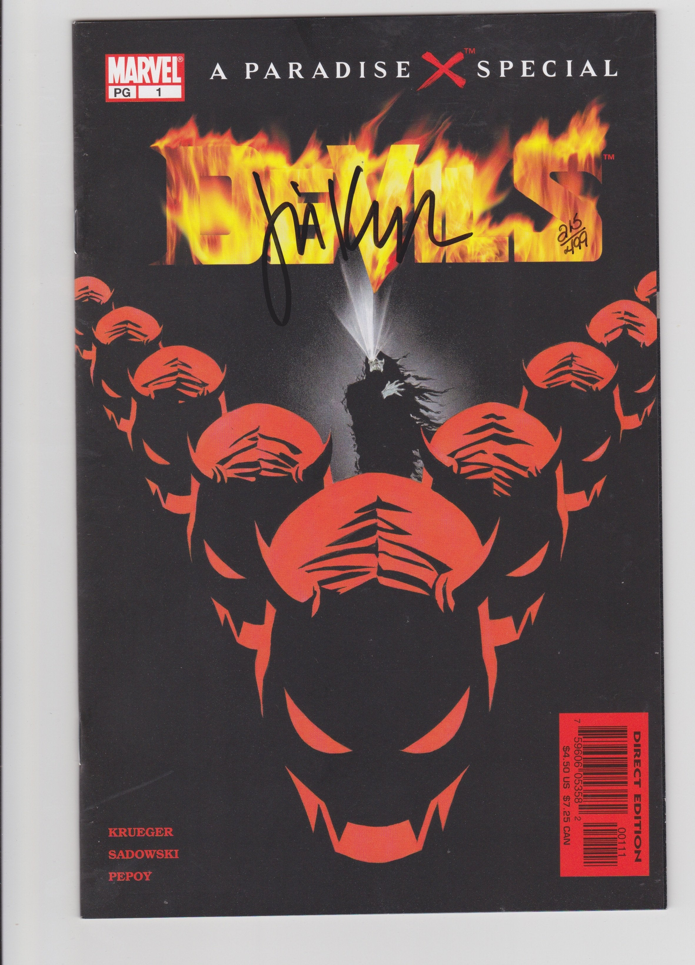 PARADISE X: DEVILS #1 SIGNED BY JIM KRUEGER