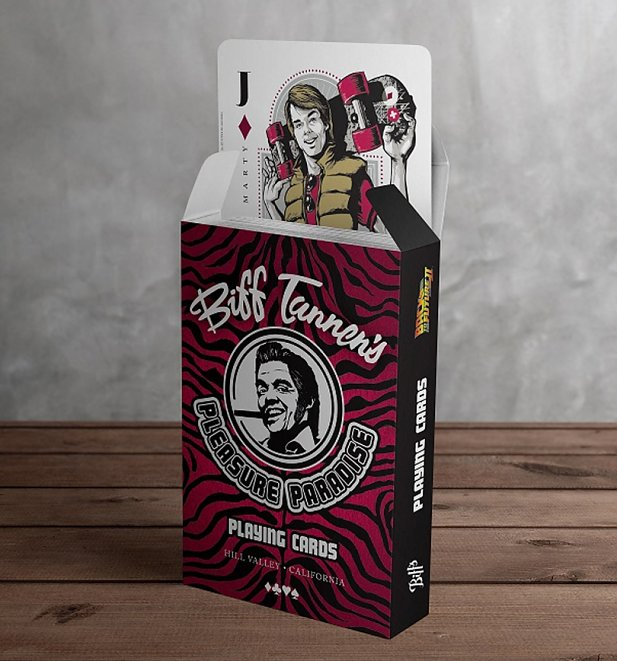 Back To The Future Biff Tannen's Pleasure Paradise Playing Cards