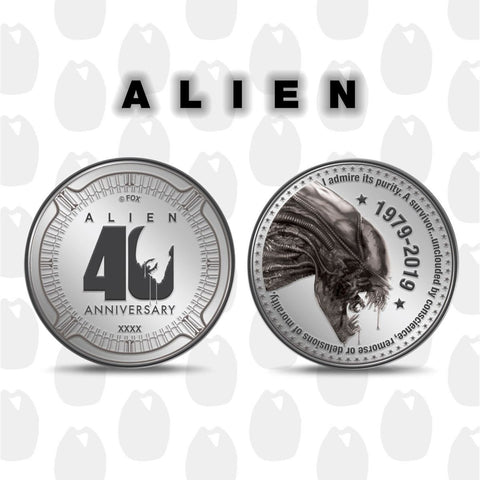 Alien 40th Anniversary Limited Edition Collectable Coin
