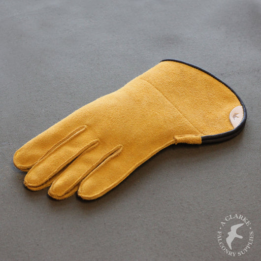 Short Cuff Single Thickness Falconry Glove - Yellow Elk