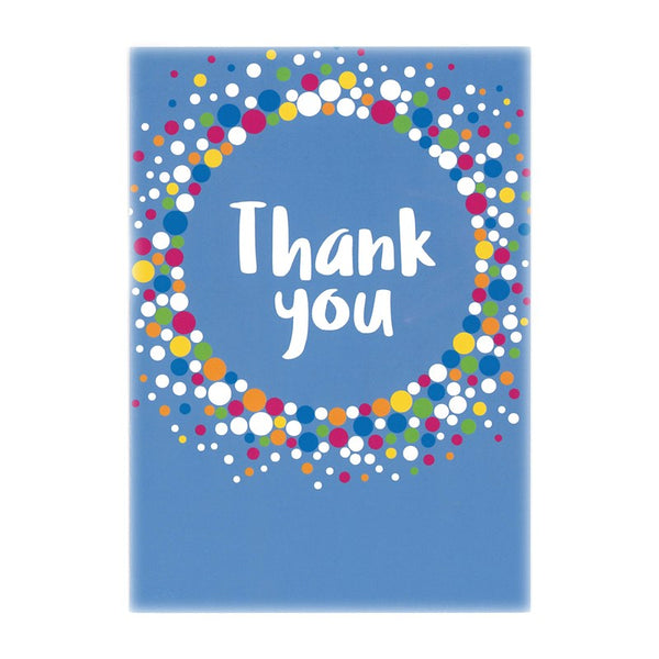 Thank you cards - blue (6 pack)