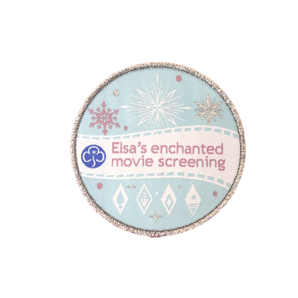 Elsa's Enchanted Movie Screening woven badge