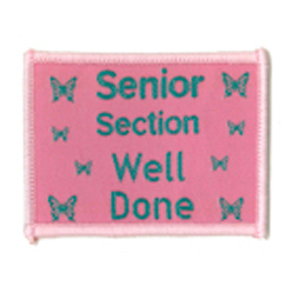 Senior Section Well Done Badge