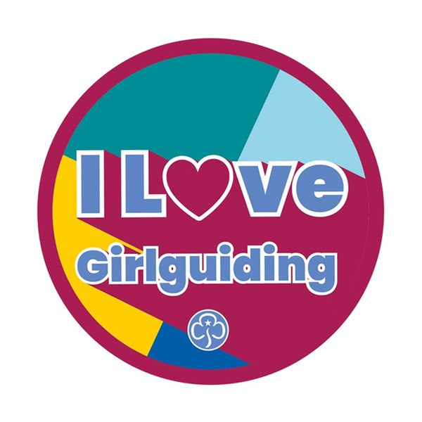 I love Girlguiding woven badge