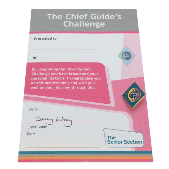 Senior Section Chief Guide Badge and Certificate