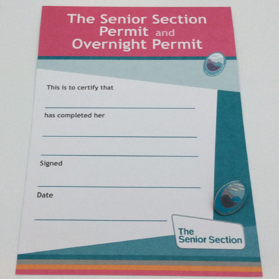 Senior Section Permit and Badge