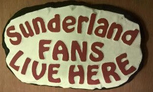 Sunderland Supporters' Plaque, Red Lettering