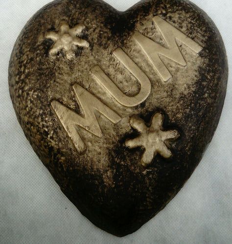 Mum Memorial Plaque, Black and Gold Effect