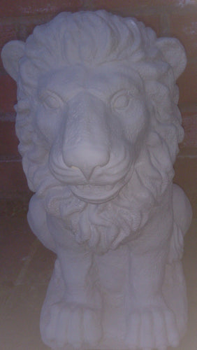Lion Ornament (Sitting), Light Grey