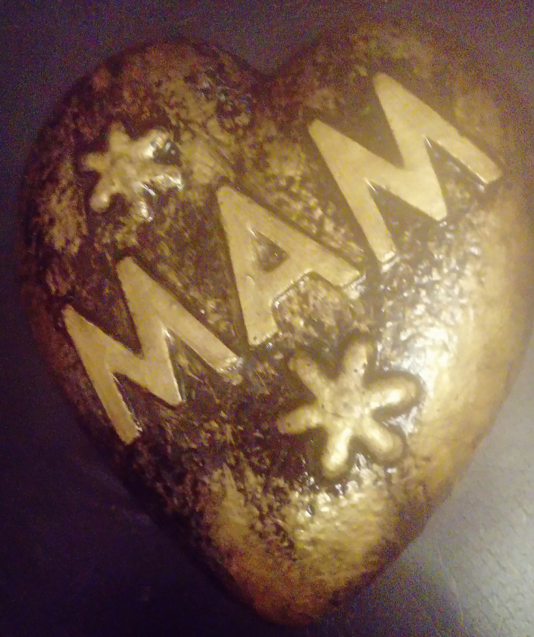Mam Memorial Plaque, Black and Gold Effect