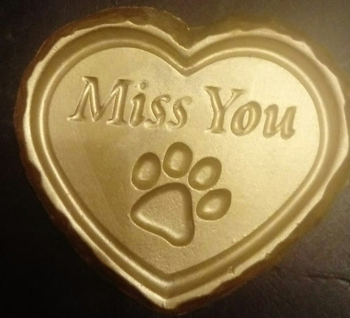 'Miss You' (Paw Print) Plaque