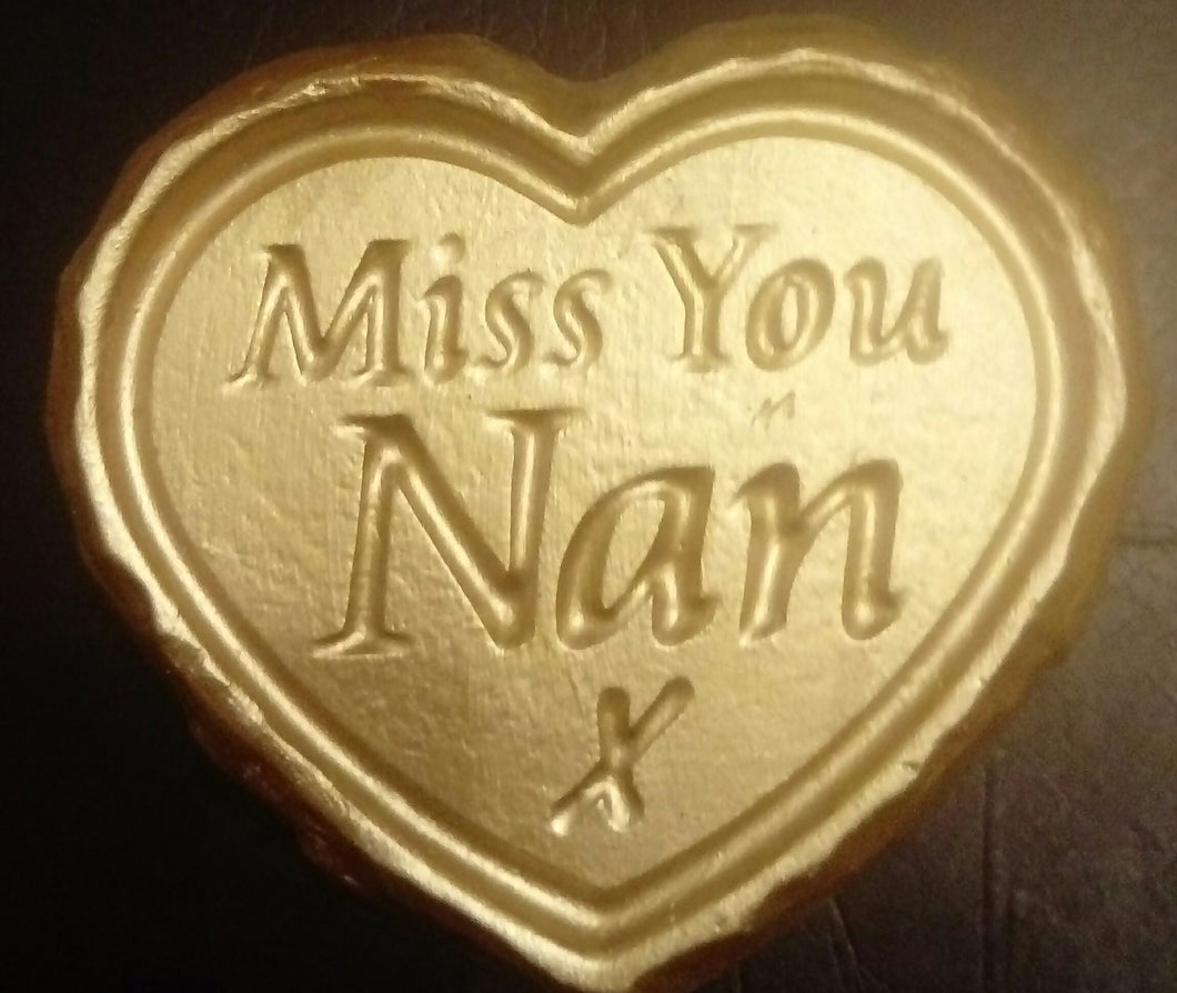 'Miss You Nan' Plaque