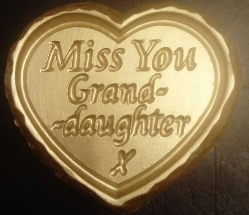 'Miss You Granddaughter' Plaque
