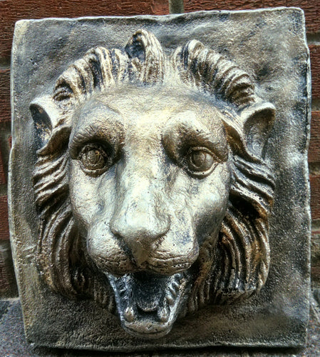 Lion head wall  plaque.