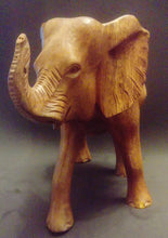 Elephant woodcarving (without tusks)