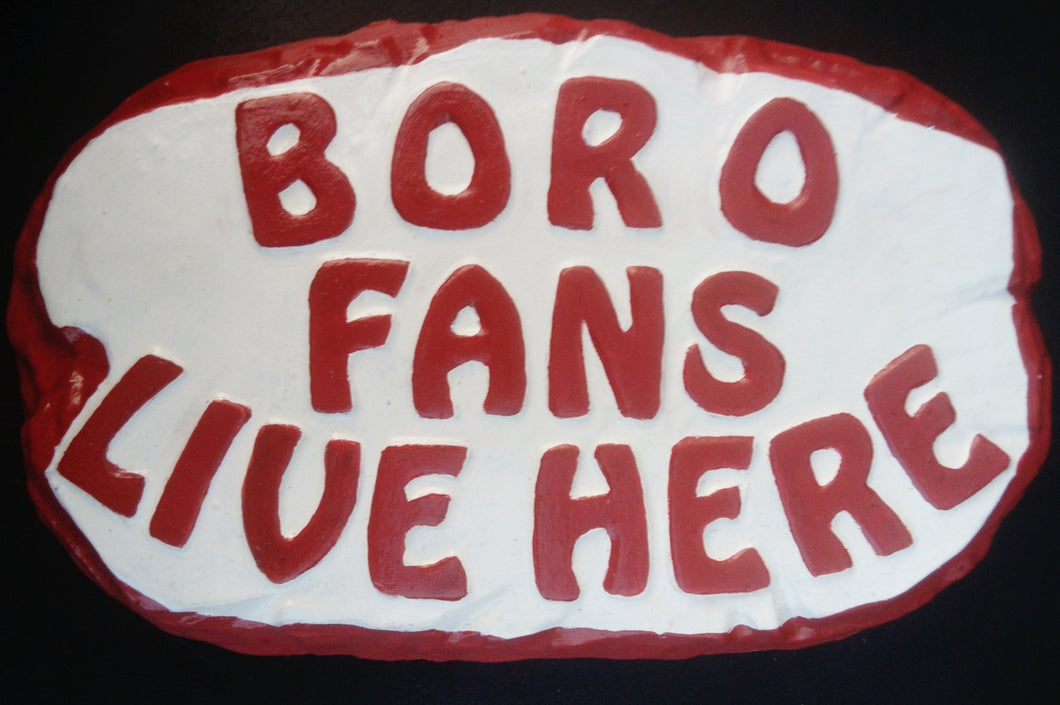 Boro Supporters' Plaque