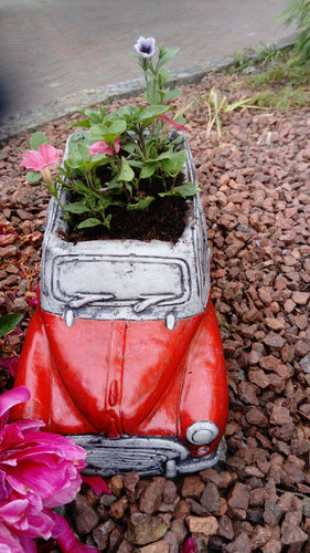 Morris Minor car planter (Red)