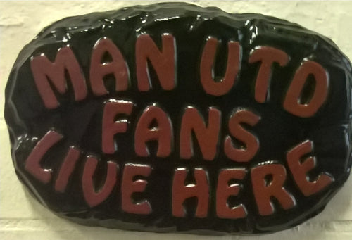 Manchester Utd Supporters' Plaque, Black Border
