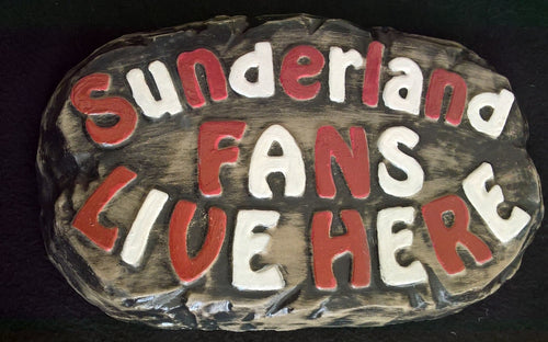 Sunderland Supporters' Plaque, Two-Tone with Red and White Lettering