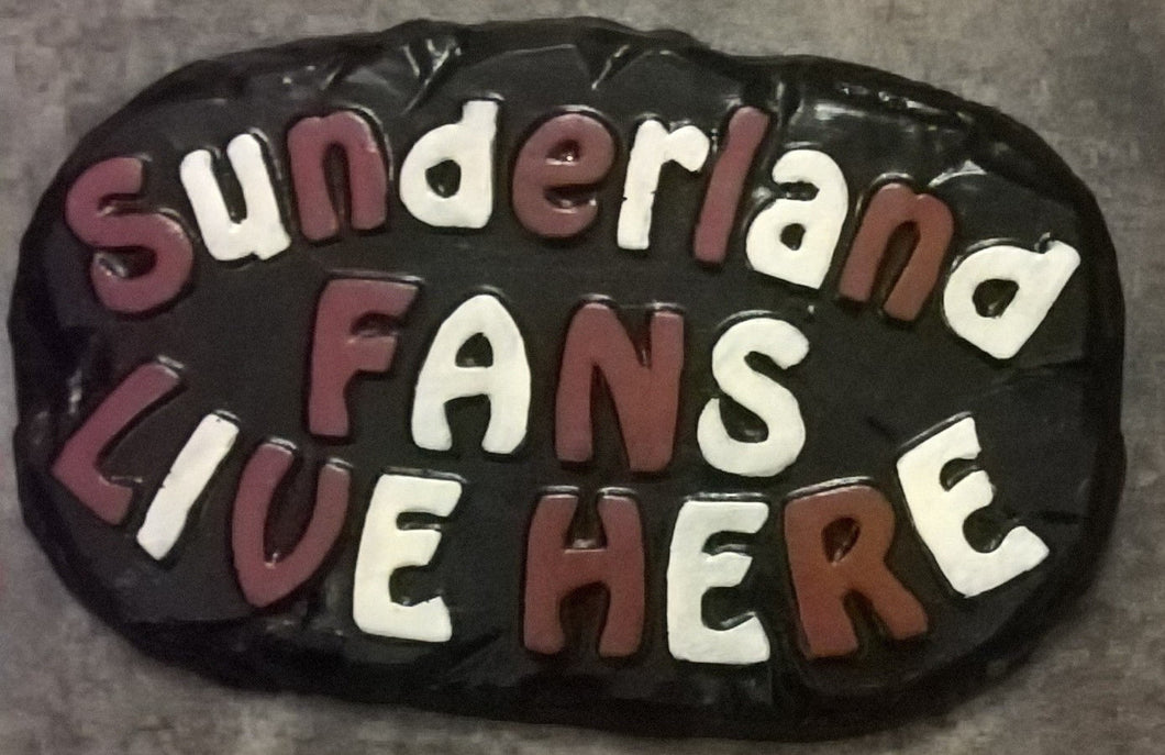 Sunderland Supporters' Plaque, Black with Red and White Lettering
