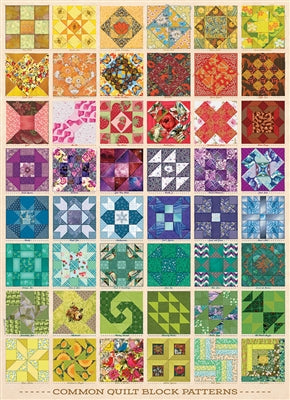 Common Quilt Blocks - 1000 brikker