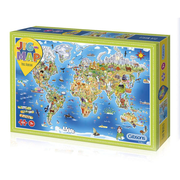 Jigmap Our World - 250 brikker