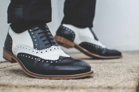 The Gatsby brogue has a classic two-tone style