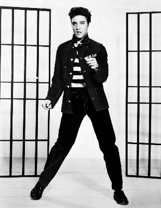 Elvis knew how to rock the brogue