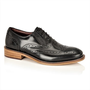 Gatsby Junior Brogues Black, Shoes, London Brogues  - London Brogues