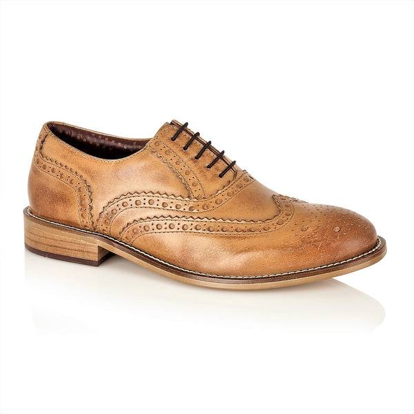 Gatsby Junior Brogues Tan