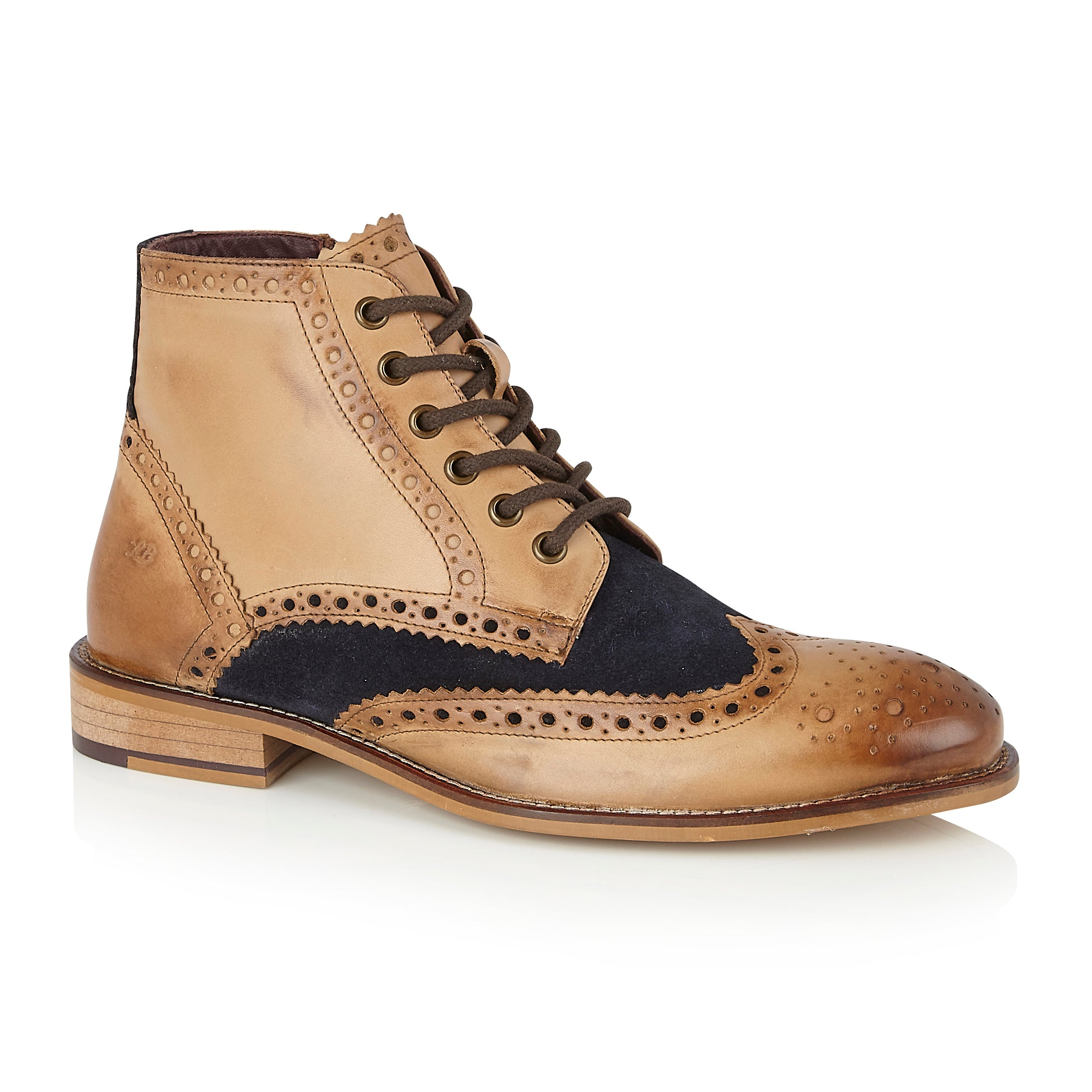 Gatsby Boot Tan/Navy