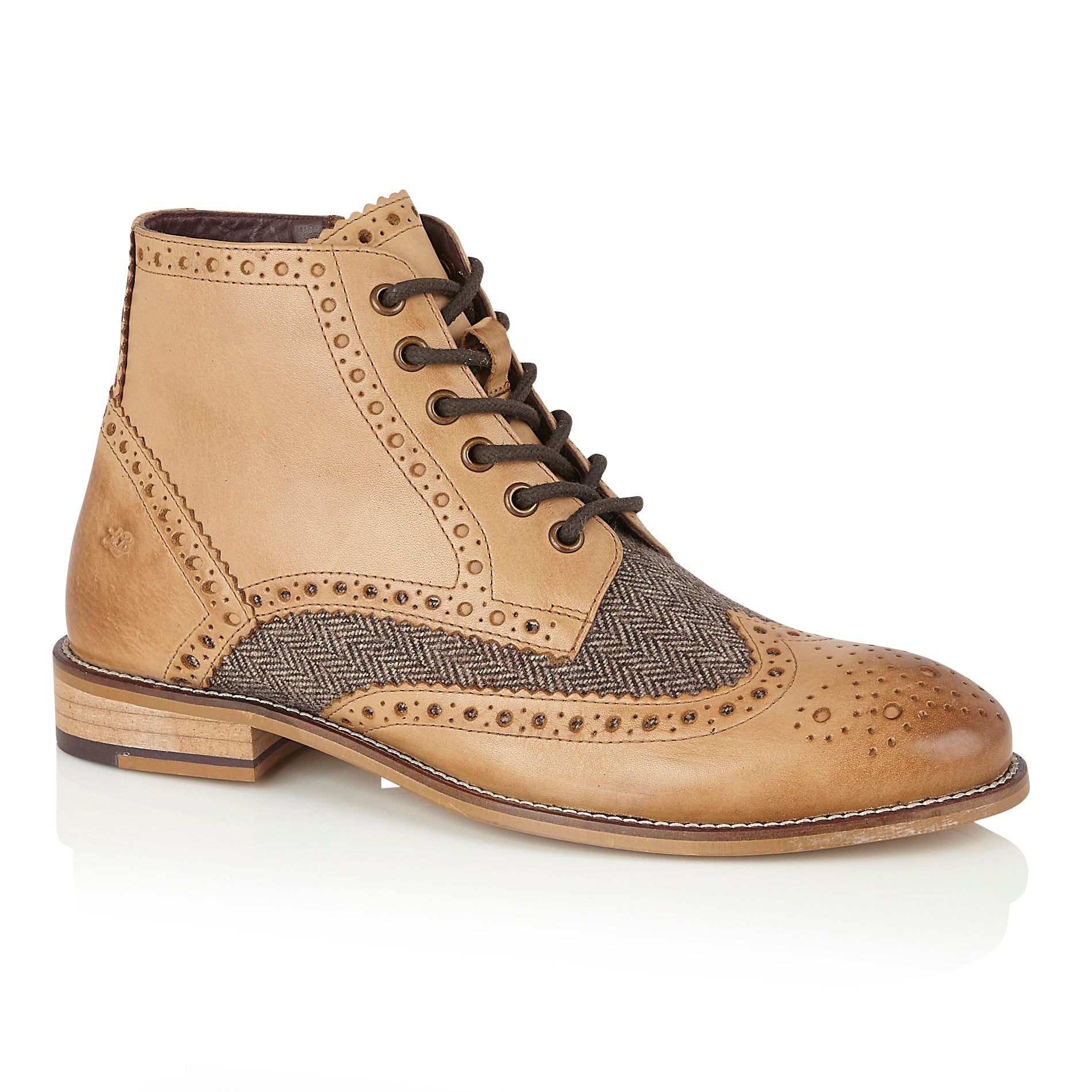 Gatsby Boot Tan/Tweed